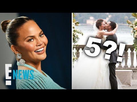 why-chrissy-teigen-bought-5-wedding-dresses-|-e!-news