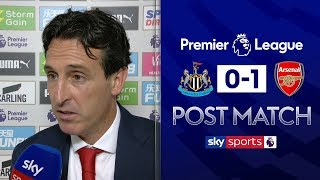 Emery excited by Aubameyang and Pepe link-up | Unai Emery Post Match | Newcastle 0-1 Arsenal