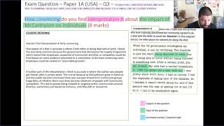 AQA GCSE  P1AQ3 USA and P2BQ1 Lizzy   How convincing