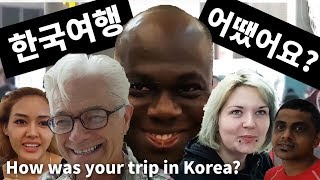 How was your trip in Korea?(at the airport)