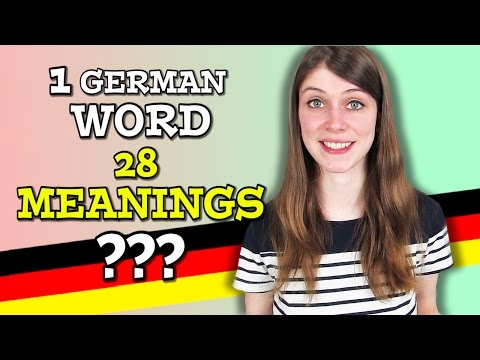 A German Word with 28 MEANINGS ???