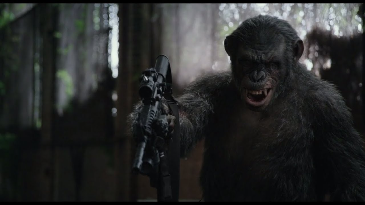 Dawn of the planet of the apes battle scene-6406