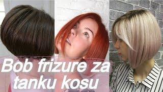 💝 Top 20 bob frizure za tanku kosu 💝