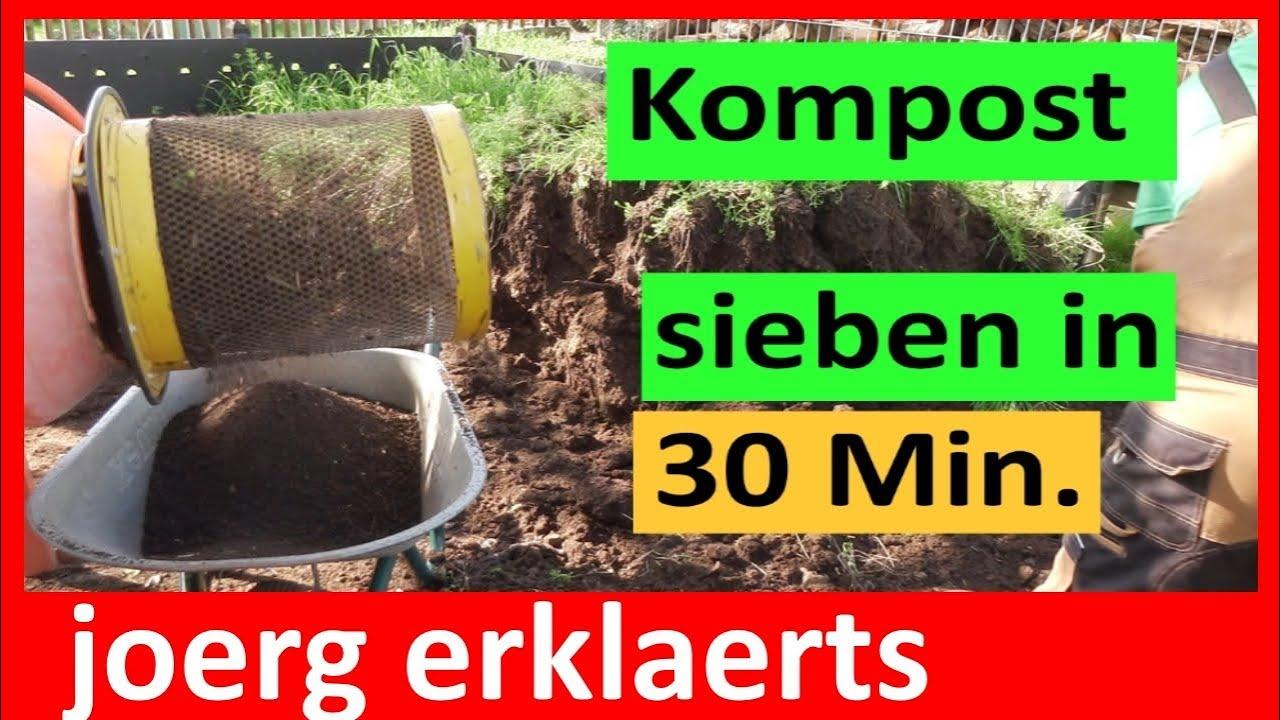 trommelsieb siebtrommel für den kompost sieben siebkorb tutorial nr
