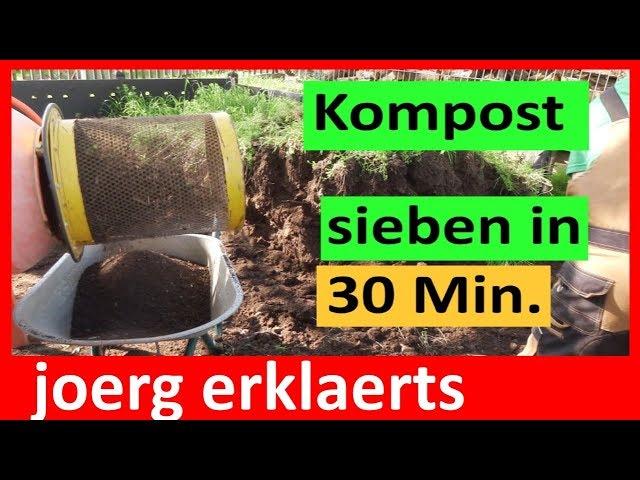Trommelsieb Siebtrommel für den  Kompost sieben Siebkorb  Tutorial Nr.175