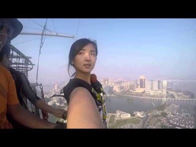 (GoPro) Bungee Jumping in Macau Tower