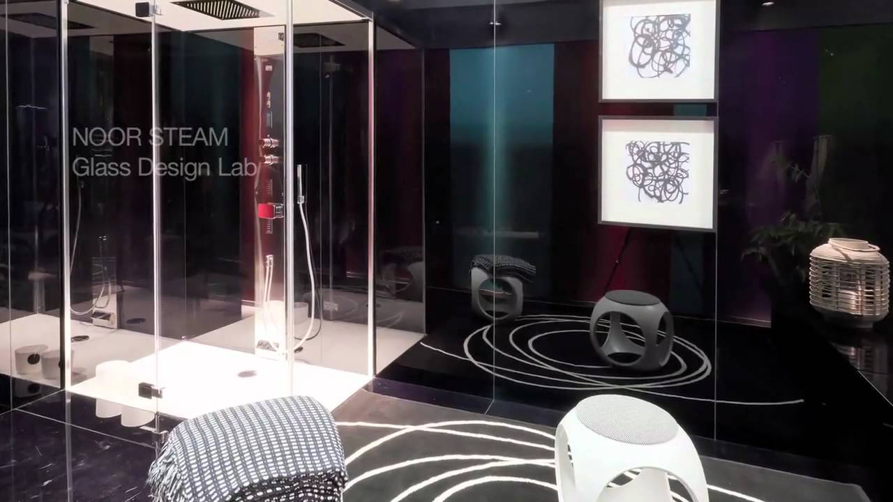 salle de bain design glass chez hb design paris youtube. Black Bedroom Furniture Sets. Home Design Ideas