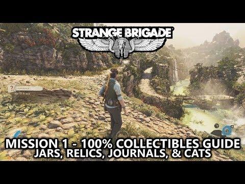 Strange Brigade - Collectibles Guide - Mission 1 - Jars, Relics, Journals, & Cats - Harbin Dig Site