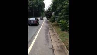 Slap in the face on Haywood Rd bike lane