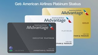 How to get platinum status with American Airlines