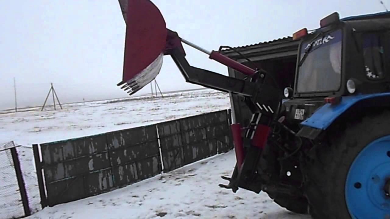 кун на заднюю навеску трактора - YouTube