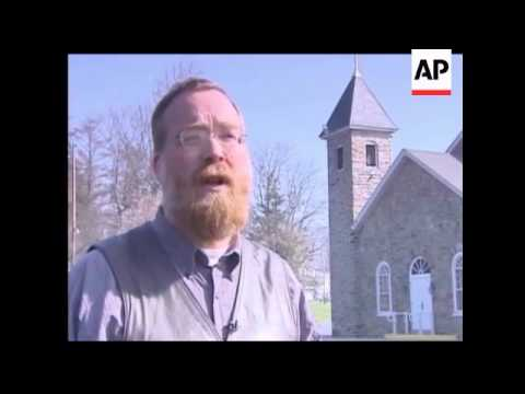 Amish Children Carrying Lunch Pails Arrived At A New One-room Schoolhouse Monday Morning, Marking A