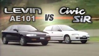 [ENG CC] Honda Civic SiR EG6 vs. Toyota Corolla Levin AE101 Maze HV2