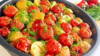 Отличный Обед в духовке Все очень Просто Вкуснейшая картошка с мясом