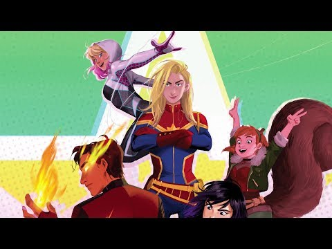 Marvel Rising First Look Trailer (2018) Marvel Animated Series