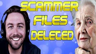 GRANNY PRANKS SCAMMER! I DELETE HIS COMPUTER FILES