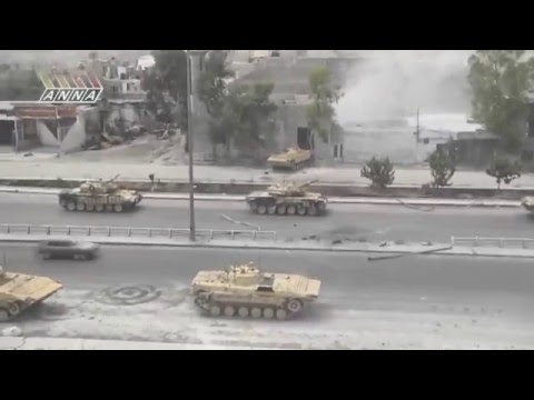 Battlefield Syria 2016  T-72  Army Action Securing Roads