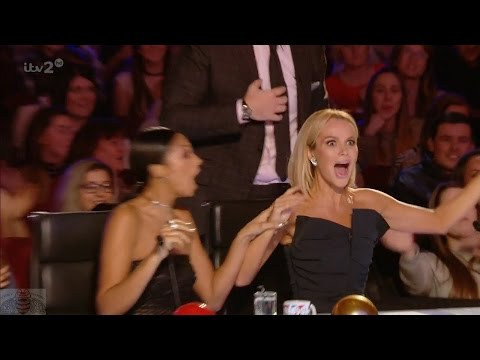 Britain's Got More Talent 2017 Mrs Farida Farr and Her Blow Up Man Full Clip S11E05