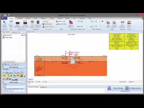 Gravity Wall Design Example with DeepEX 2016