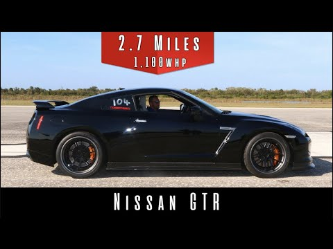 Watch An 1,100 Horsepower Nissan GT-R Top Out At 235 MPH