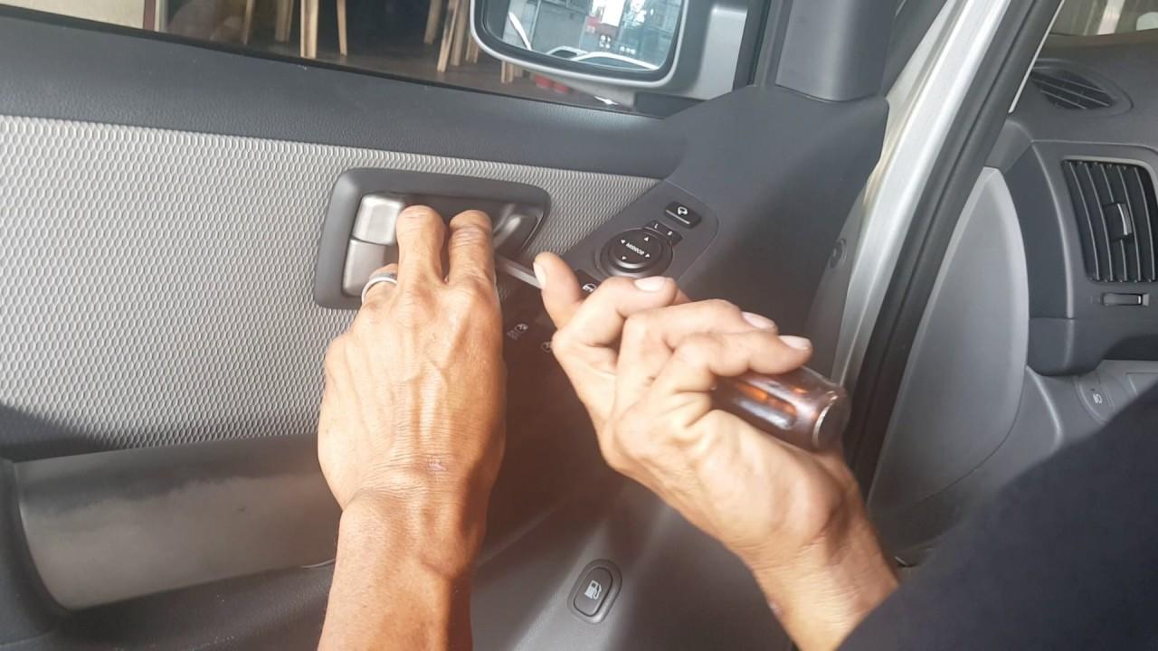 Aca / hyundai starex / front door panel removal - YouTube