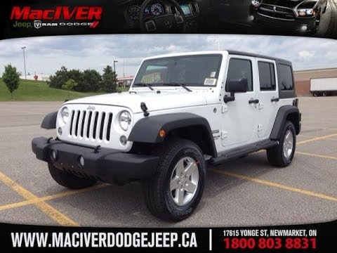 2014 white jeep wrangler unlimited sport w mopar black pckg newmarket ontario maciver dodge. Black Bedroom Furniture Sets. Home Design Ideas