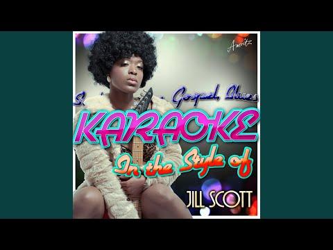 Cross My Mind (In The Style Of Jill Scott) (Karaoke Version)