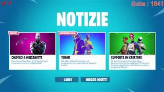 Io:Ninja Nabbo in Fortnite! Live Nintendo Switch! Sorteggio Sorteo Giveaway Nintendo Online 12 Months
