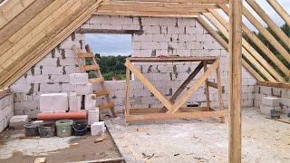 Строим дом из газобетона часть 3  Дом из газобетонных блоков  Как самому построить дом