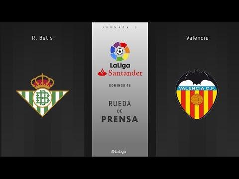 Rueda de prensa R. Betis vs Valencia