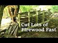 Easy Kindling & Small Firewood Cutting Rack