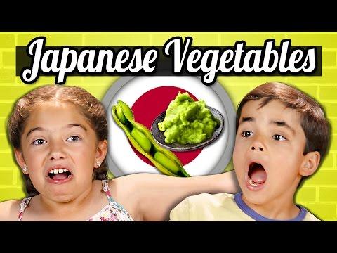 KIDS EAT JAPANESE VEGETABLES! | Kids Vs....