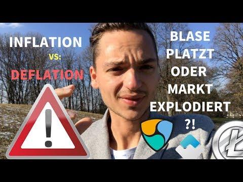 Was ist INFLATION VS. DEFLATION im Kryptomarkt ►  BITCOIN BLASE PLATZT? Bitcoin News, Ethereum, btc