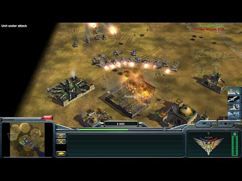 USA vs China vs 2x GLA - Command and Conquer Generals: Zero Hour