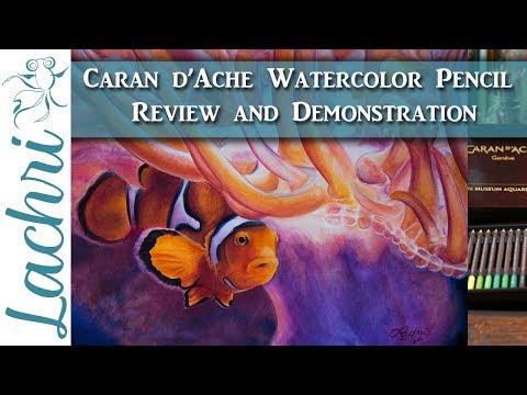 Caran d'Ache Museum Aquarelle watercolor pencil review & demo - Lachri