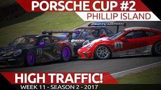 Traffic! Porsche Cup @ Phillip Island iRacing