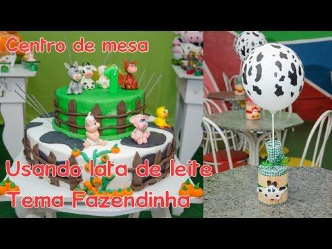 decoração-de-festas:-centro-de-mesa-para-aniversários-usando-lata-de-leite