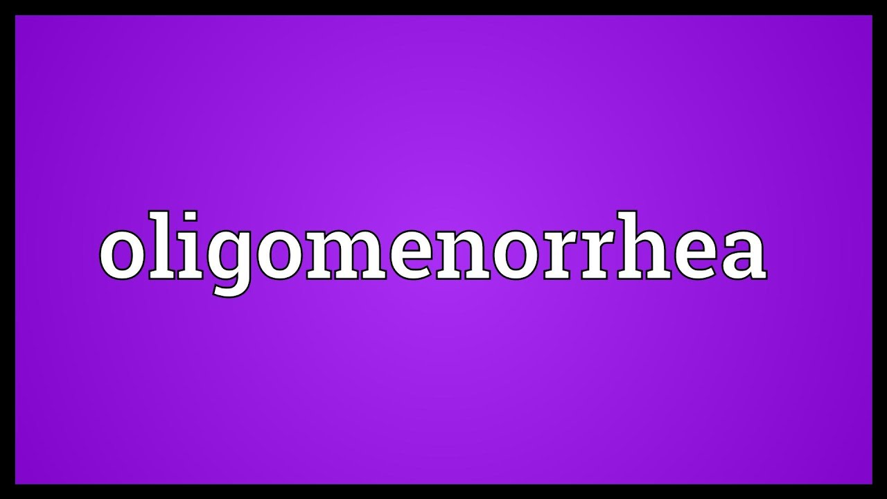 oligomenorrhea meaning - youtube, Skeleton