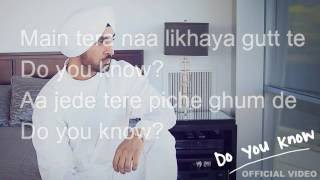 Diljit Dosanjh - Do You Know lyrics (New Punjabi Song 2016 By Diljit)