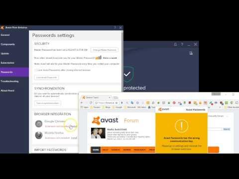 activate avast passwords in firefox