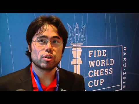 Hikaru Nakamura after his match with Sam Shankland at the Baku World Cup