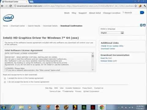 How To Update/Install Intel HD 3000 Graphics Driver