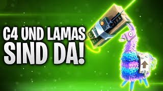C4 UND LAMAS SIND DA! 💥 + RAKETEN C4 ACTION! 🚀 | Fortnite: Battle Royale