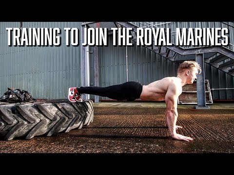 Training to join the Royal Marines