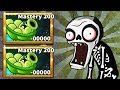 Sling Pea Mastery 200 In Plants vs. Zombies 2 vs Gargantuar Fight !