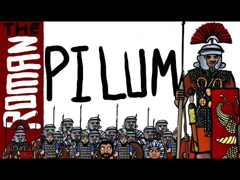 The Ancient Roman pilum (Roman Legionary military tactics and warfare)