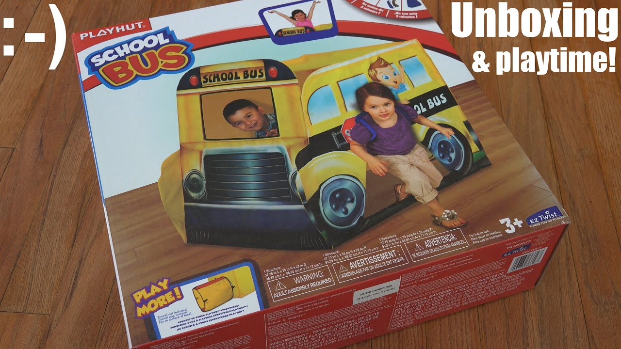 Playhouse Tent for Kids Unboxing Playhutu0027s School Bus w/ Hulyan u0026 Maya - YouTube & Playhouse Tent for Kids: Unboxing Playhutu0027s School Bus w/ Hulyan ...