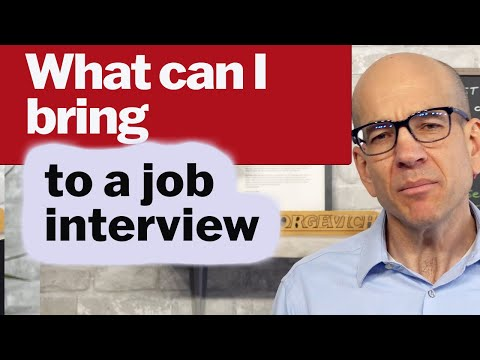 What to Bring to a Job Interview - Can I Bring a Notebook?
