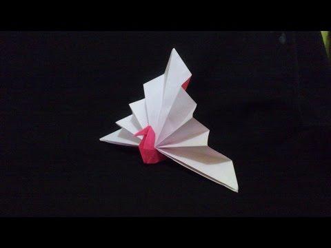 Origami Peacock [Burung Merak] Segitiga | Origami Binatang