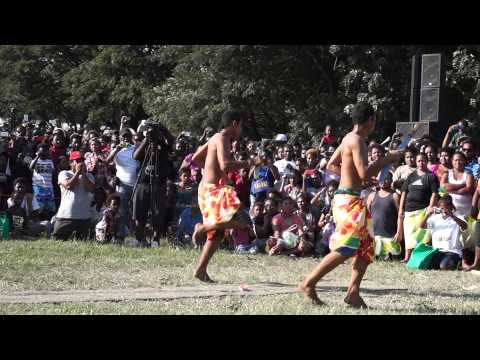 Mortlock Dancers during Bougainville Day 2014 in Port Moresby